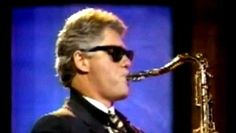 Bill Clinton playing Saxophone.