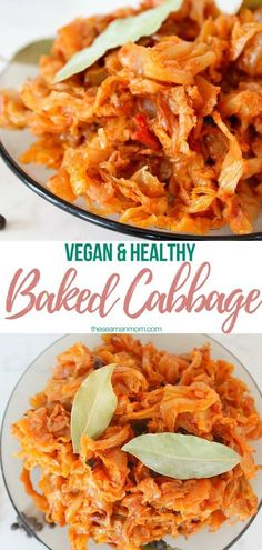 This vegan cabbage recipe will become one of your favorite recipes with the very first bite! Easy to make and versatile you can serve this baked cabbage as a main dish on itself or as s side dish along a steak! Vegan Side Dishes, Side Dish Recipes, Food Dishes, Vegetarian Cabbage Recipes, Cooked Cabbage Recipes, Couscous, Cabbage Side Dish, Healthy Baking, Healthy Recipes
