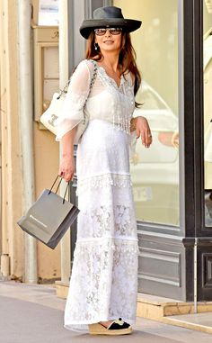 Catherine Zeta-Jones from The Big Picture: Today's Hot Pics  While on vacation with husband, Michael Douglas, the actress gets some shopping done in the South of France.