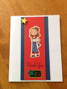 End of school year card for teacher