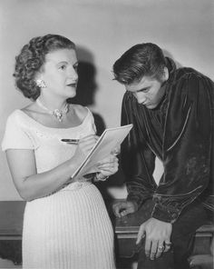#Elvis with trude Forsher ..in aug 1956 she became private secretary for elvis and Parker for six years