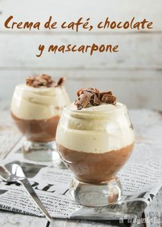 Crema de cafe, chocolate y mascarpone