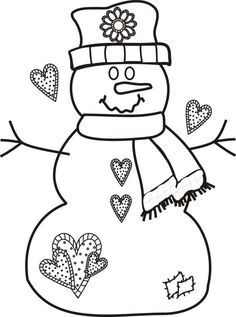 free christmas coloring pages snowman printable - Free Christmas Coloring Pages