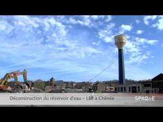 Déconstruction du château d'eau : réhabilitation du site LBP à Chênée #spaque #rehabilitation #remediation #fricheindustrielle #brownfields #liege  #chenee