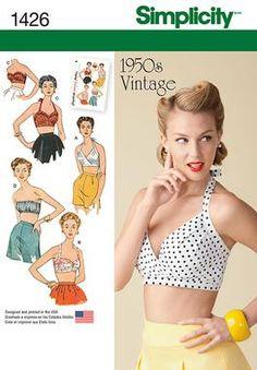 Simplicity Creative Group - Misses' Vintage 1950's Bra Tops http://www.simplicity.com/p-11725-misses-vintage-1950s-bra-tops.aspx