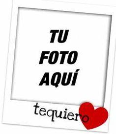 Marco con dobles bordes. Montaje fotográfico en el que acompañan a tu fotografía un te quiero y un corazón color rojo, sobre un fondo blanco. http://www.fotoefectos.com