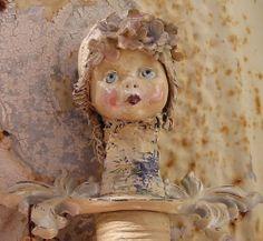 Izabella's Tattered Letters: JoAnnA's art doll (mosshillstudio) Art Doll by JoAnna Pierotti