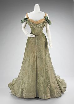 "the-met-art: "" Ball gown by Jacques Doucet, Costume Institute Medium: silk, metal Brooklyn Museum Costume Collection at The Metropolitan Museum of Art, Gift of the Brooklyn Museum, Gift of Mrs. 1890s Fashion, Edwardian Fashion, Vintage Fashion, Classy Fashion, Cheap Fashion, Hijab Fashion, Fashion Fashion, Fashion Women, Fashion Tips"