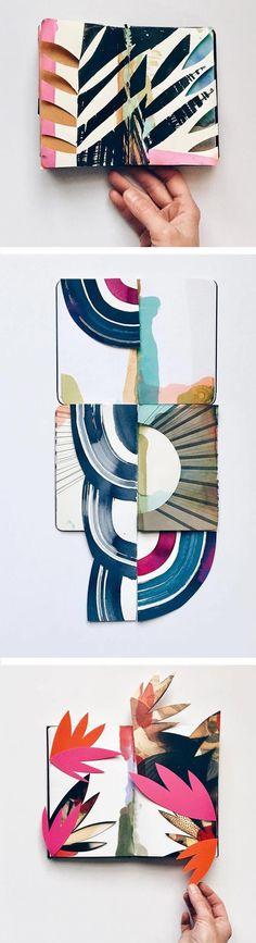 Eva Magill Oliver - Brown Paper Bag SKETCHBOOKS The Shape-Shifting Sketchbooks of Eva Magill-Oliver #BooksArt