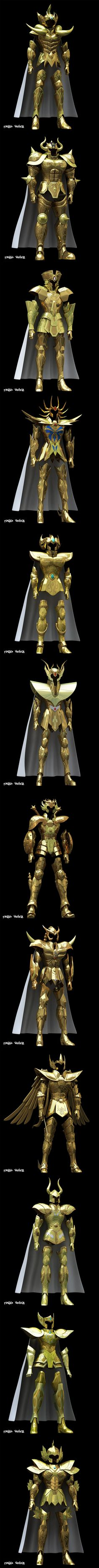 3d CGI Gold Cloths, Saint Seiya