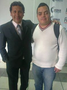 Freddie Armando Romero y periodista deportivo Robert Malca. (2013)