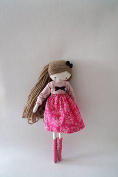 Handmade rag doll Isabella ooak cloth art by lassandaliasdeana