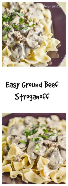 An Easy Stroganoff Dish for Those Busy Days.  No slicing & dredging beef with this recipe!