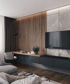 Modern Living Room – cozy home warm House Paint Interior, Home Interior Design, Minimalist Home Interior, Contemporary Interior Design, Home Living Room, Living Room Decor, Bedroom Decor, Interior Cladding, Living Room Tv Unit Designs