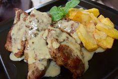 ΜΑΓΕΙΡΙΚΗ ΚΑΙ ΣΥΝΤΑΓΕΣ: Μπριζολάκια με υπέροχη σάλτσα !!! Baking Recipes, Pork, Chicken, Meat, Baked Food, Cooking, Food Food, Cooking Recipes, Kale Stir Fry