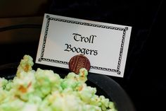 Troll Boogers, Harry Potter party food