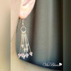 Очень нежные серьги из хрусталя  Цена: 490р.  #vlublues #украшения #красотавмелочах #москва #подольск #хендмейд #хэндмэйд #handmade #handmadejewelry #серьги #сережки