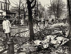 1956 plane crash scene in North Bergen,NJ