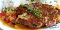 15 nejlepších receptů na rychlé obědy z jednoho pekáče | NejRecept.cz Pork Recipes, Cooking Recipes, Food 52, Meatloaf, Steak, Dinner Recipes, Food And Drink, Menu, Treats