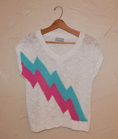 Vintage 80s Cable Knit Sweater Pullover Knit by founditinatlanta, $27.00