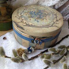 "Boxes handmade.  ""April"" Stash .... Elena Gvozdev.  Shop Online Fair Masters.  Casket for jewelry, belief, blue, lime"