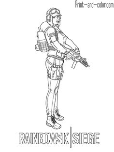 9 Best Rainbow Six Siege Coloring Pages Images Coloring