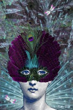 Fornasetti Feathered Mask by Misty Frederick-Ritz