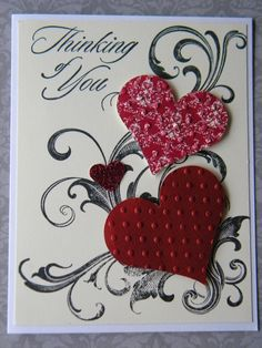 Stampin Up Card Kit Love Valentine Handmade Card by DimionStore, $12.99