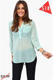 Mira Blouse - Mint