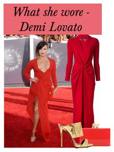 """""""What she wore - Demi Lovato"""" by martina-hel ❤ liked on Polyvore featuring Lanvin, Charlotte Olympia and Giuseppe Zanotti"""