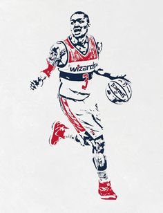 Bradley Beal WASHINGTON WIZARDS PIXEL ART Art Print by Joe Hamilton. All prints are professionally printed, packaged, and shipped within 3 - 4 business days. Basketball Photos, Basketball Art, Basketball Leagues, Basketball Legends, Basketball Players, Joe Hamilton, Bradley Beal, Nba Pictures, Nba League