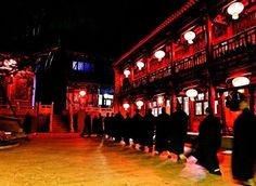 Temples in Wutai Mountain in northern China's Shanxi province hang red lanterns to celebrate the ChineseNewYear.