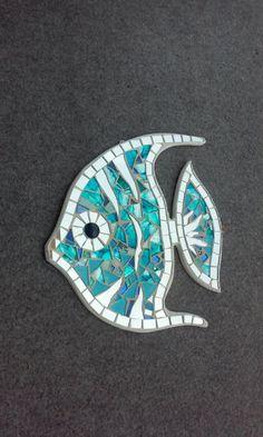 Angel fish fish-angel gift idea furnish-sea - Famous Last Words Mosaic Tile Art, Mosaic Pots, Mosaic Artwork, Mirror Mosaic, Mosaic Diy, Mosaic Garden, Mosaic Crafts, Mosaic Projects, Mosaic Glass