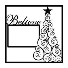 Christmas Tree Believe Scrapbooking Die Cut Overlay