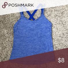 Athletic Tank with Built In Bra Like New tank with built in bra. Polyester and spandex blend. Danskin Now Tops Tank Tops