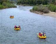 Rafting on the American River, Fair Oaks to Sacramento, California