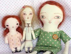 Cloth Dolls by Cat Gabriel, via Flickr