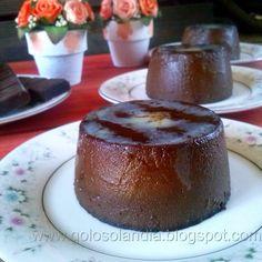 Golosolandia: Recetas de postres (tartas  caseras y postres caseros): Flan de chocolate