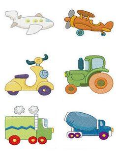 Matrizes De Bordados Carrinho,caminhão,avião,lambreta,trator