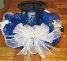 Deco Mesh Candle Centerpiece