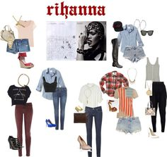 rihanna style, created by indyjune on Polyvore