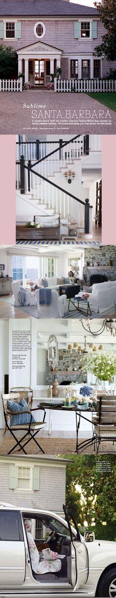 Slim Paley's Santa Barbara home in House Beautiful via Beach City LifeStyle