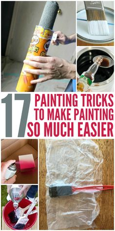 17 Painting Tricks That Make Painting Easier. 17 Painting Tricks That Make Painting Easier. Plan to redecorate or remodel a room? Here are some painting tricks for everything from prep tips to clean up to make that chore a little easier. Home Improvement Projects, Home Projects, Home Renovation, Home Remodeling, Kitchen Remodeling, Building Renovation, Do It Yourself Furniture, Diy Home Repair, How To Make Paint