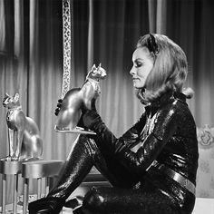 The first Catwoman, Julie Newmar played Batman's crime-stopping partner in the original TV series~1960s~♛