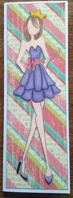 Prima doll #3, copics and scrap paper for back grund