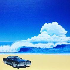 """永井 博 on Instagram: """"ひるまあるきすぎてつかれた...すでに代官山蔦屋での展示はスタートしています、よろしく😊🐧💦。 あすのよるはやいじかんはスーパーデラックスにて🎧スピン、のあとよなかは丸の内ハウスにて🎧スピン😅🐧💦。 #hiroshinagai #illustration"""" Doodle Art Drawing, Art Drawings, David Hockney, Surf Art, Julia, Fantasy World, Vaporwave, Pixel Art, Surfing"""