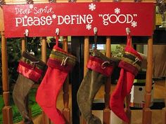 Christmas Decor. DIY Stockings Hanger.
