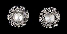 Silver base Clear stone earring