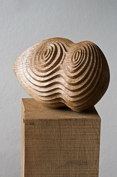 """Alison Crowther ~ """"Concentra III"""" ~ Wood Sculpture in Oak"""