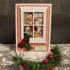 Купить Открытка Кухня Санта Клауса - комбинированный, Новый Год, рождество, Открытка ручной работы